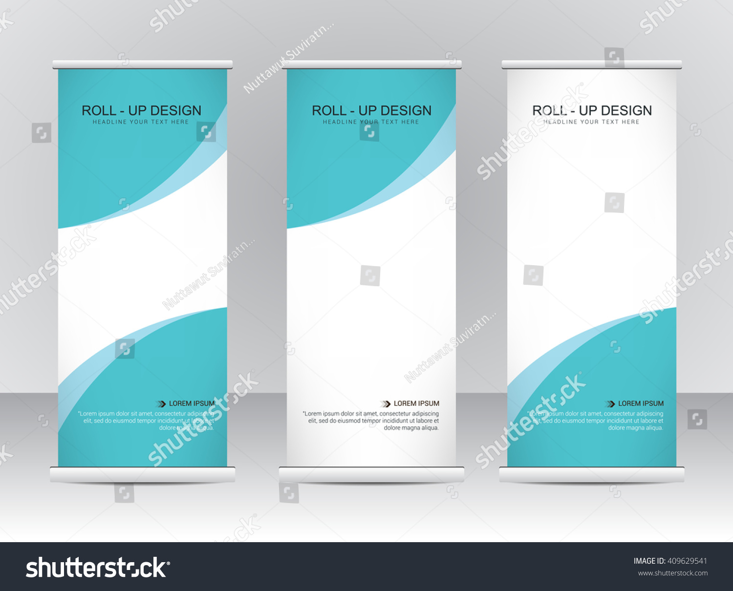 Roll Banner Stand Template Design Stock Vector 409629541 ...