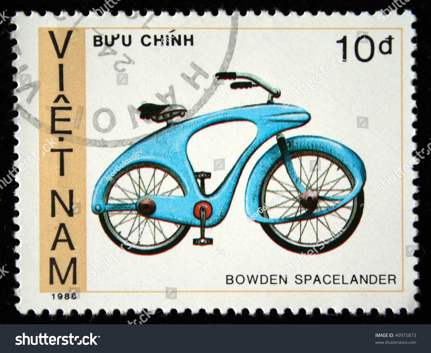 Vietnam Circa 1988 Stamp Printed By Stock Photo 40975873