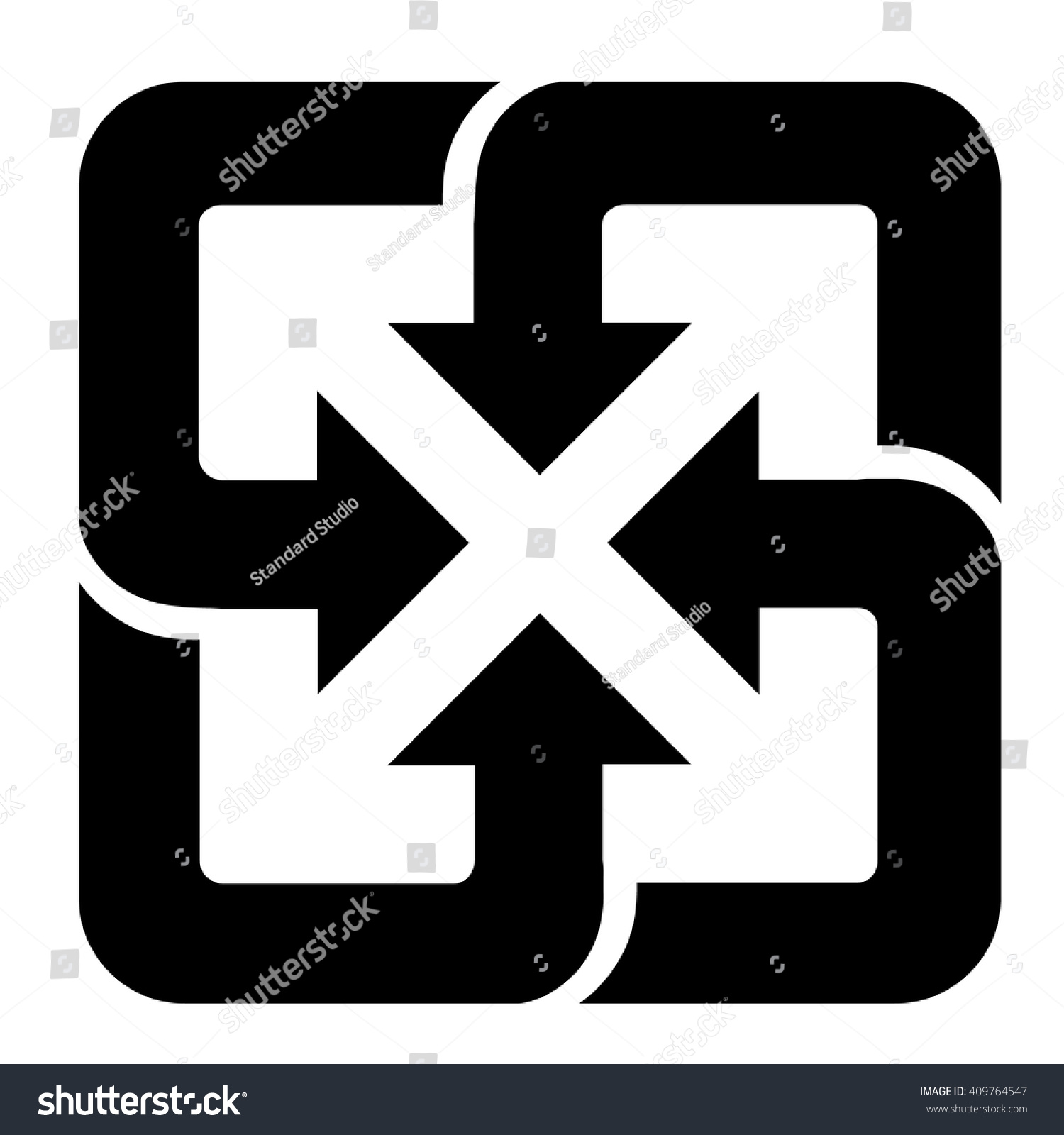 Taiwan recycling symbol isolated black sign stock vector 409764547 taiwan recycling symbol isolated black sign on white background vector illustration buycottarizona Choice Image