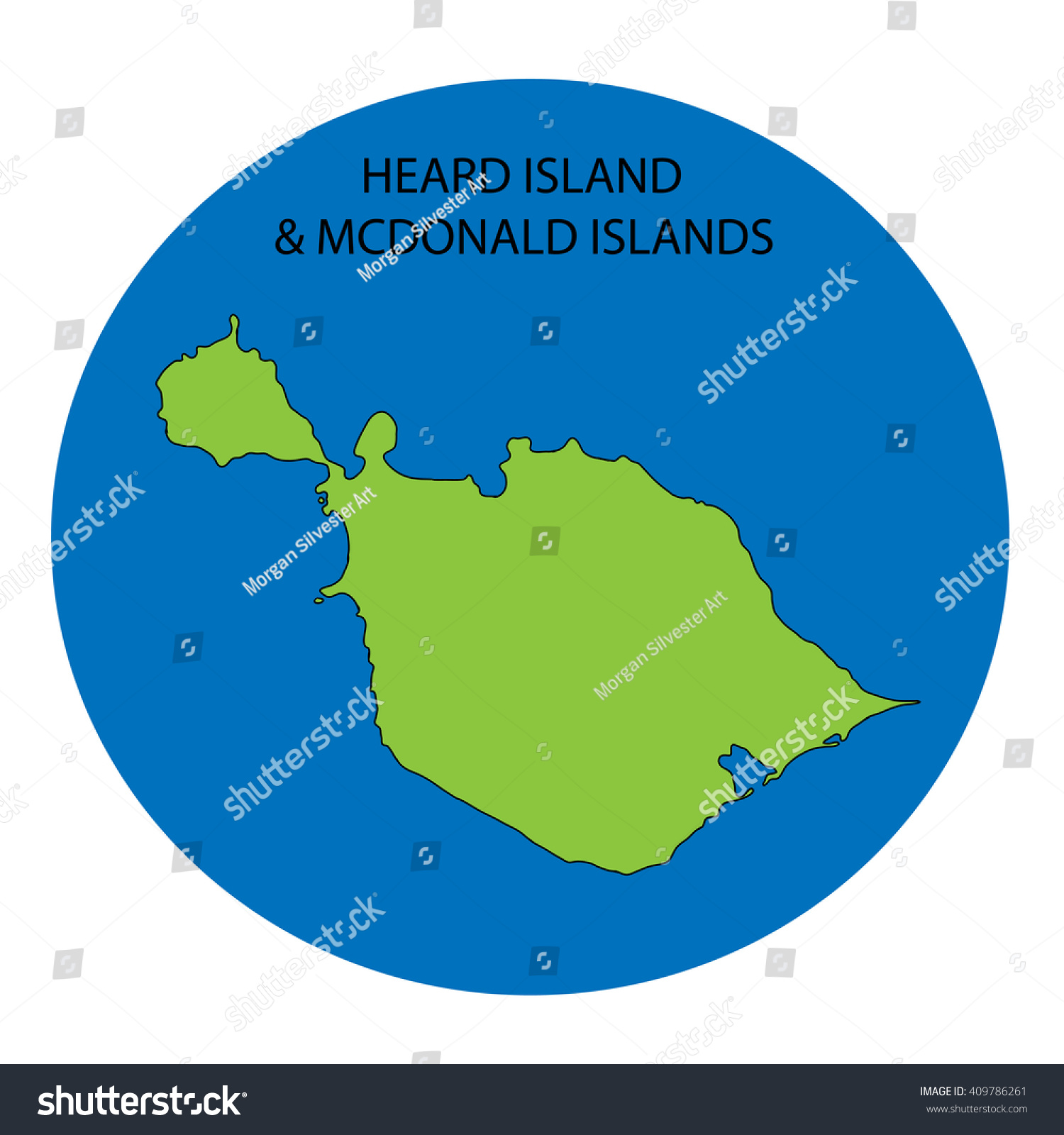 Heard Island Mc Donald Islands Map Stock Illustration Royalty Free