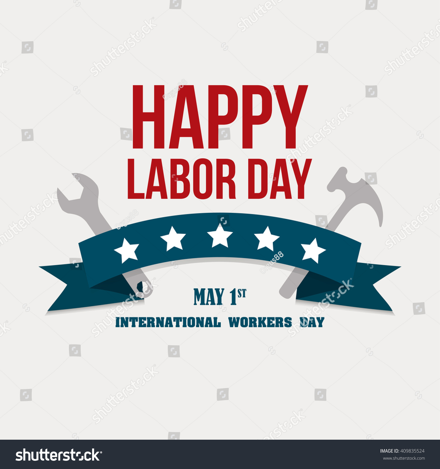 Happy Labor Day Greetings Cards Labor Stock Vector Royalty Free