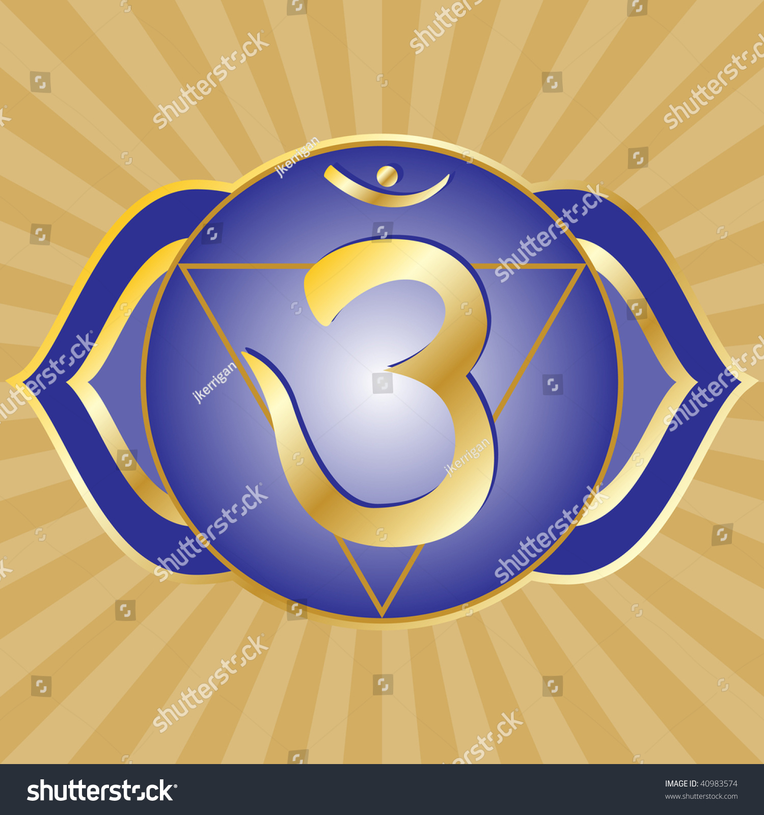 Chakra Series Ajna Third Eye Chakra Stock Illustration 40983574
