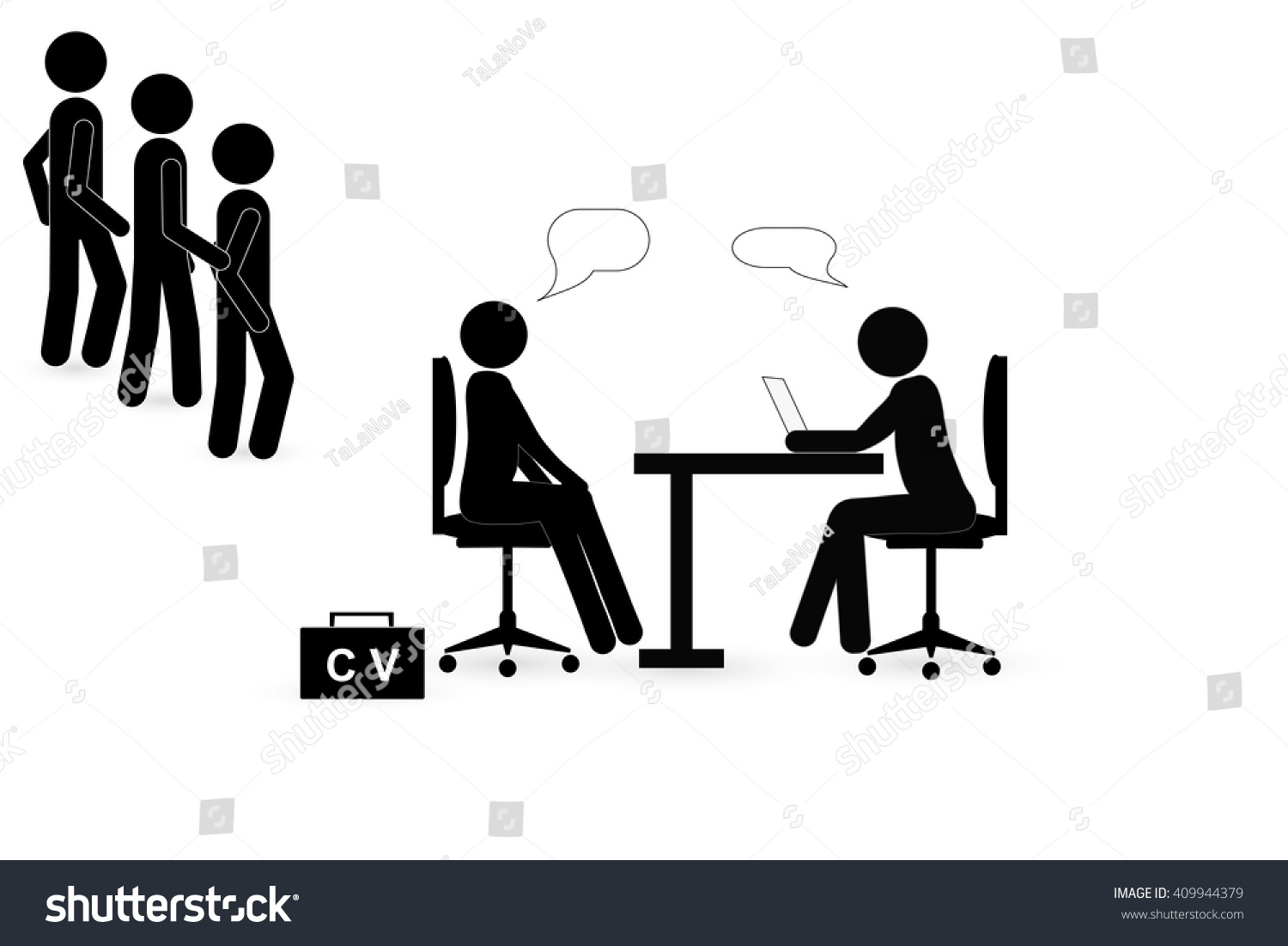 Job Interview Icon Stock Vector 409944379 - Shutterstock
