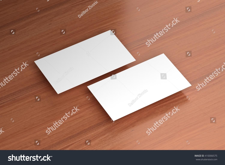Business Cards Blank Mockup Template 3 D Stock Illustration ...