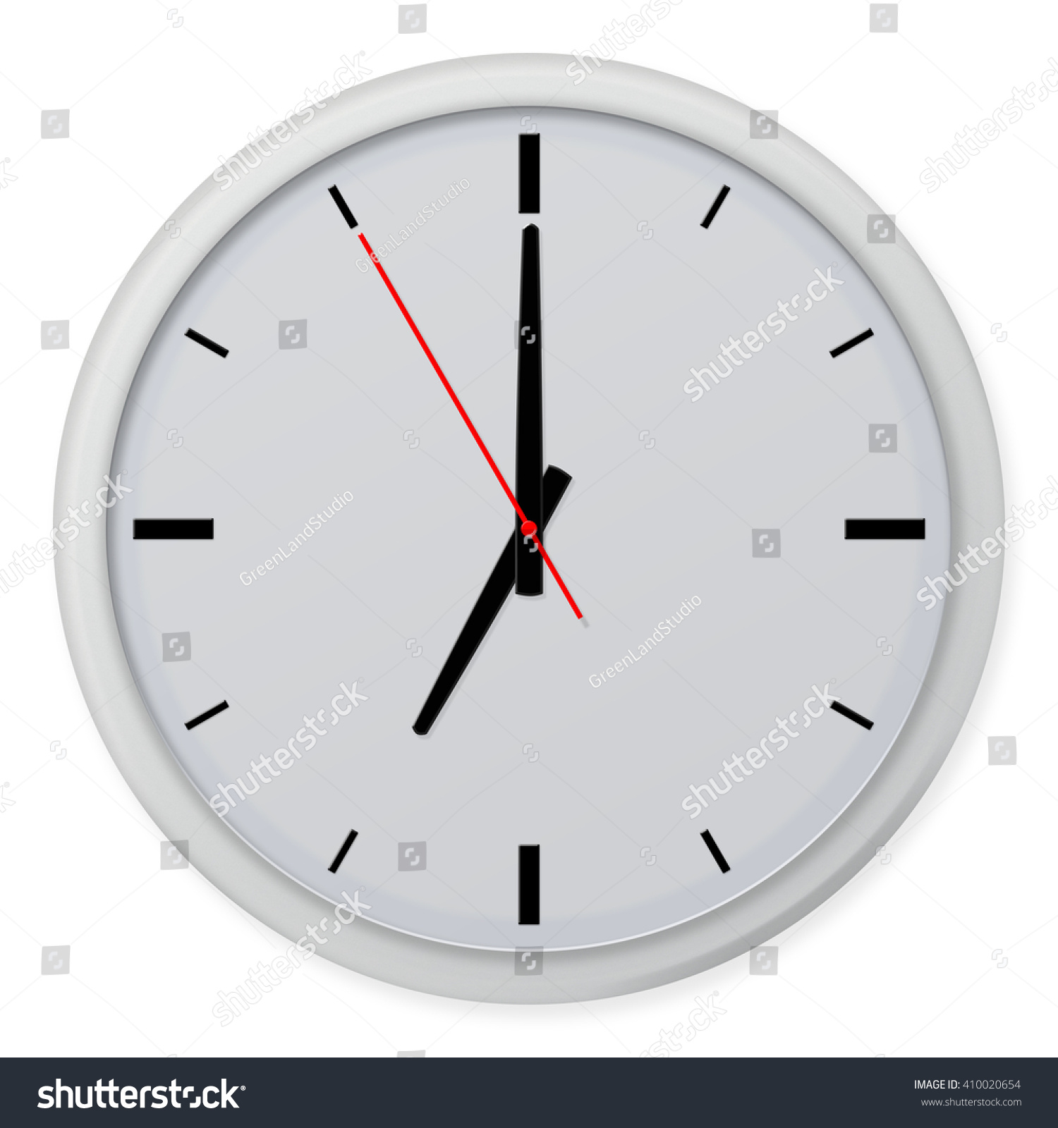 Clock Without Numbers Shadows Isolated On Stock Illustration