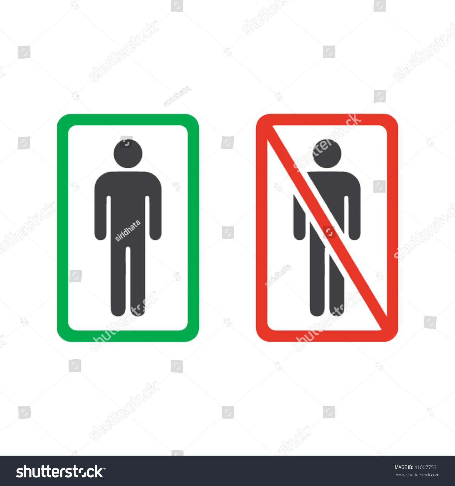 Mens room no man allowed signs stock vector 410077531 shutterstock mens room or no man allowed signs biocorpaavc