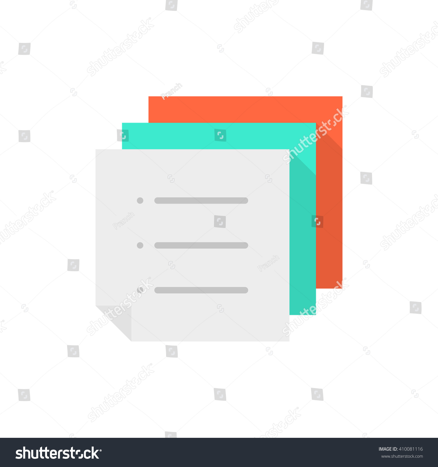 stack of color memo to do list concept of work flow vote mail save to a lightbox