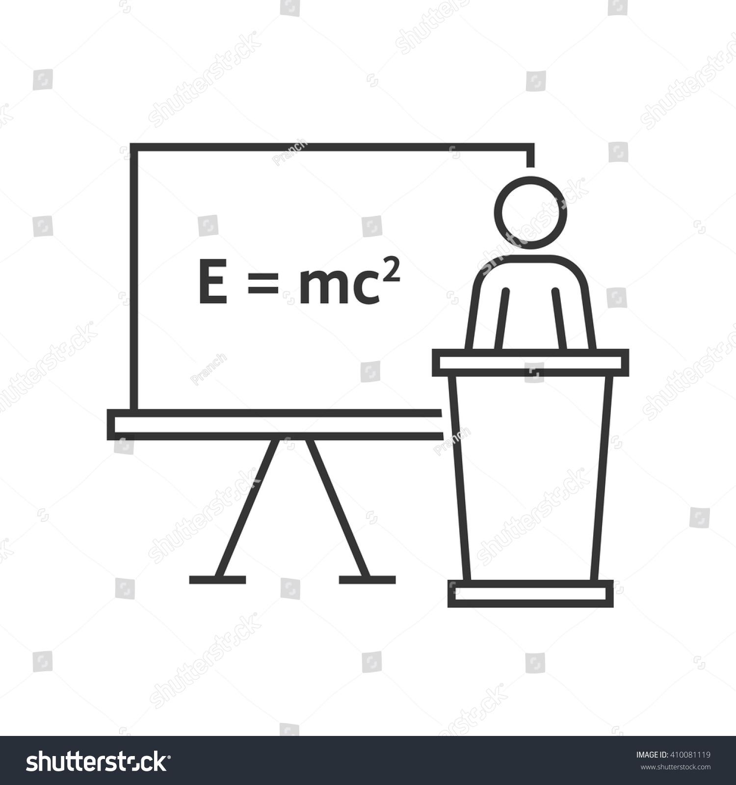 Thin Line Physics Teacher Concept Emc Stock Vector Hd Royalty Free