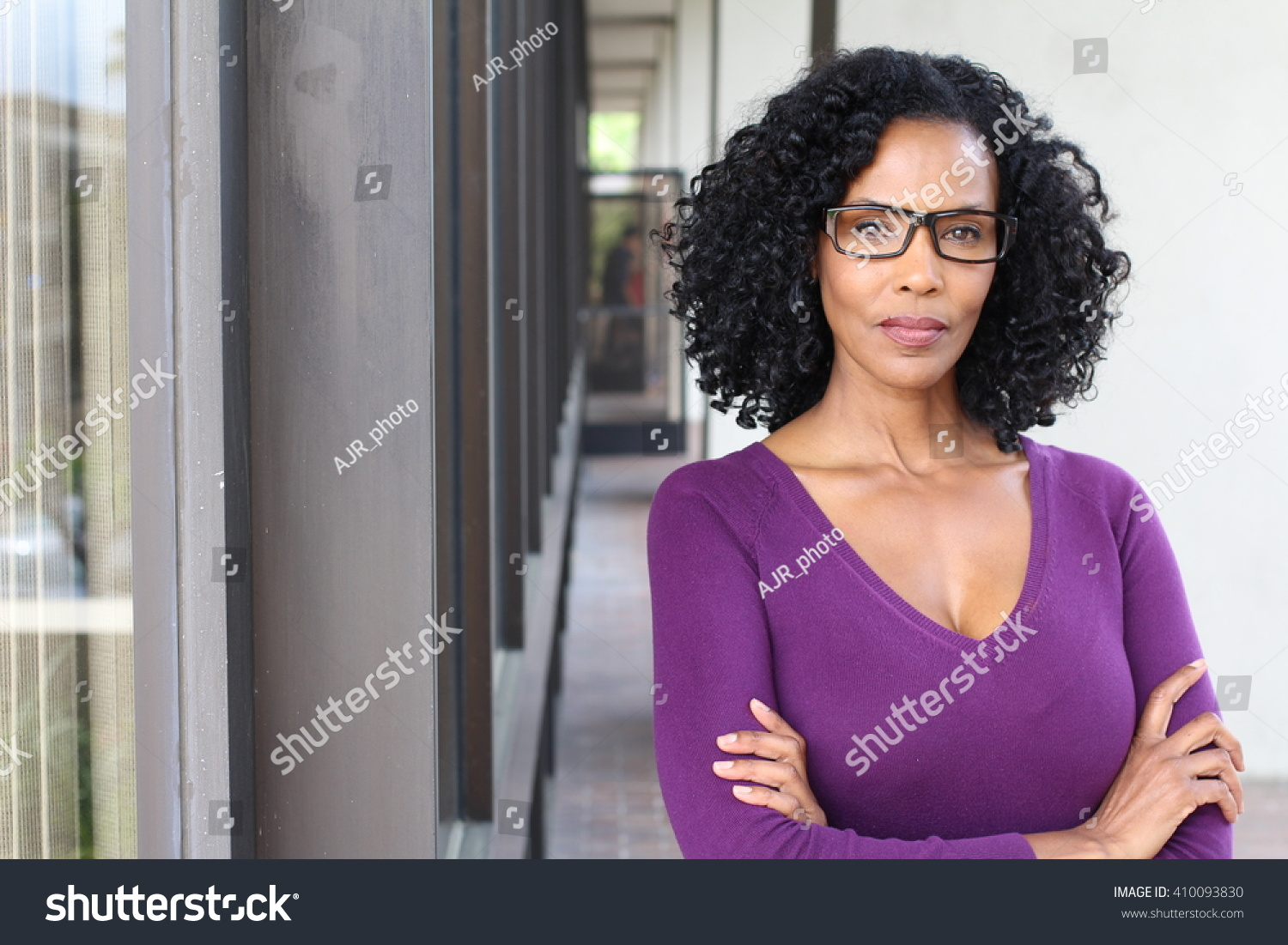 beautiful exotic african mature woman stock photo & image (royalty