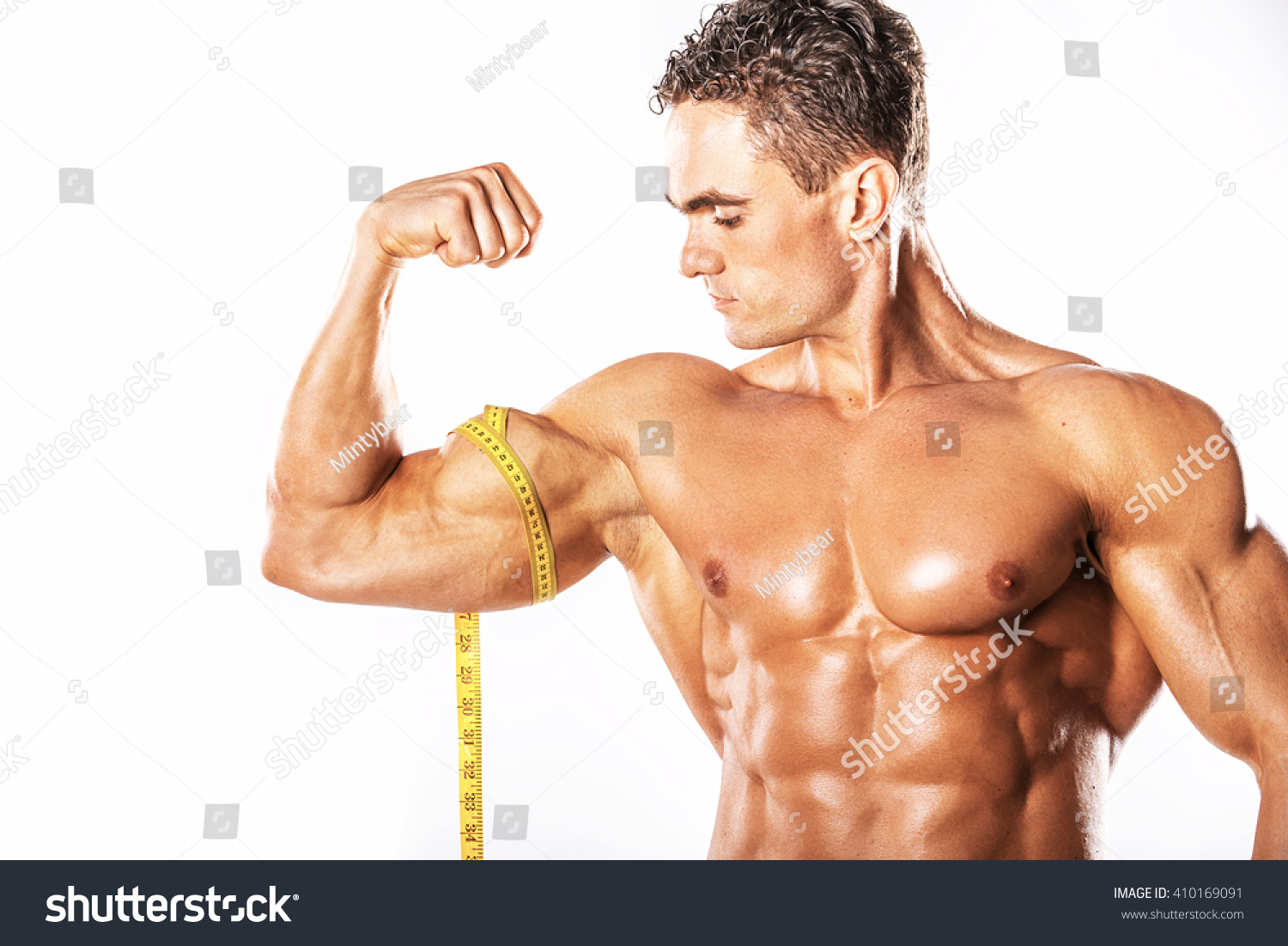 Strong Athletic Man Showing Muscular Body Stock Photo (Safe to Use ...