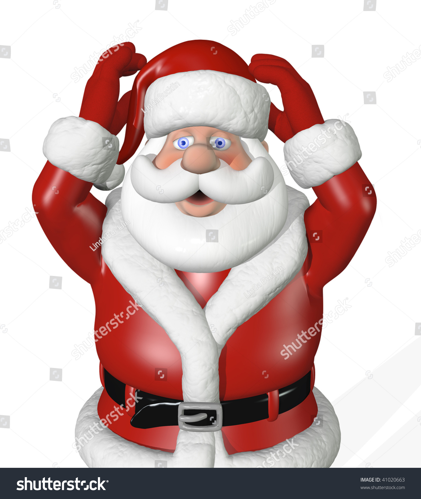 Getting Close Christmas Santa Beginning Panic Stock Illustration ...