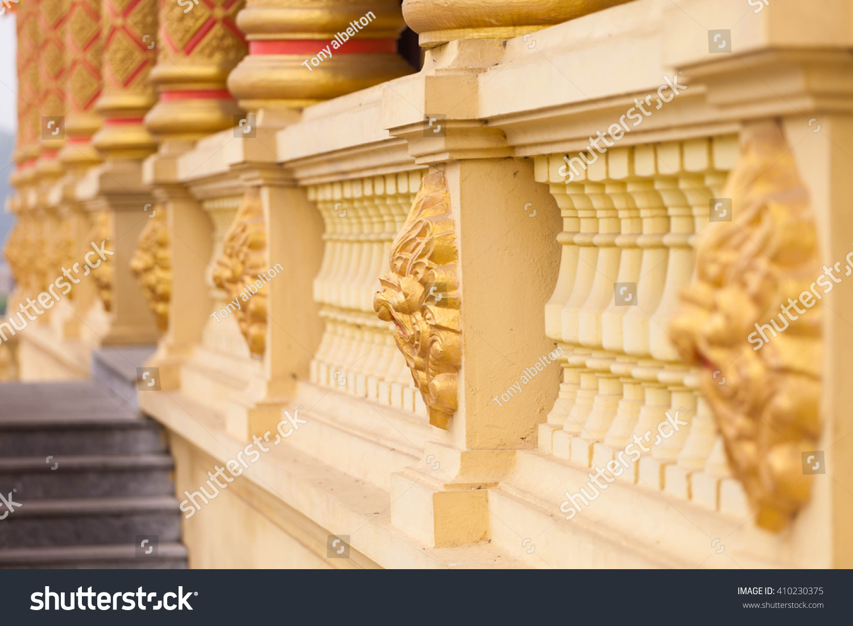 Floral Art On Wall Khmer Buddhist Stock Photo 410230375 - Shutterstock
