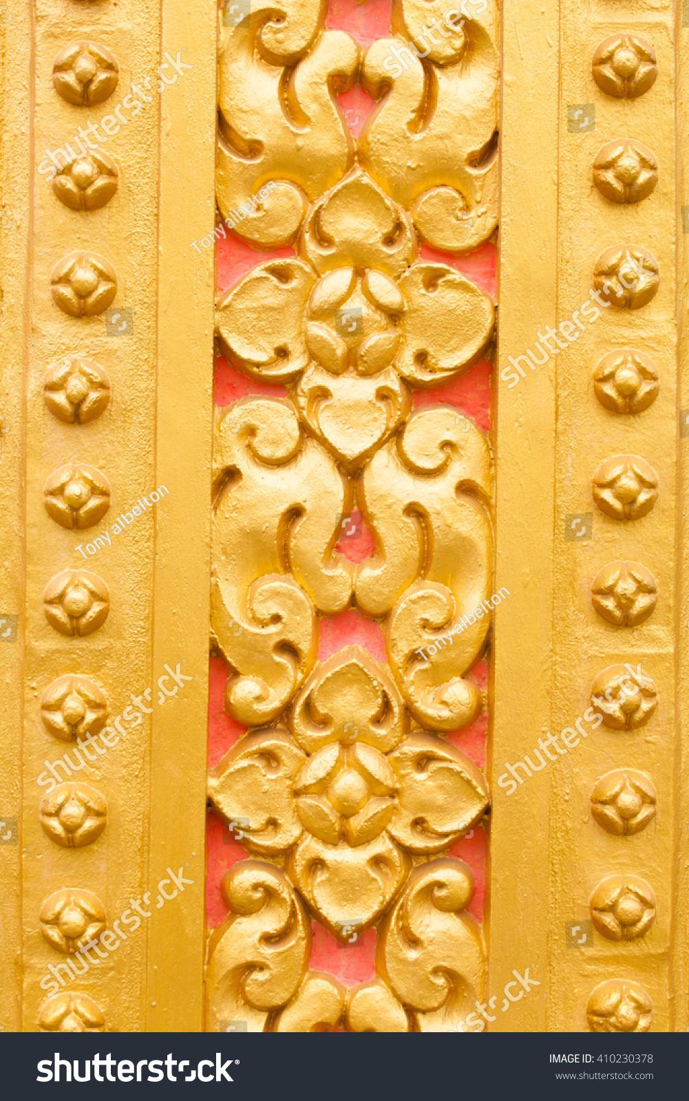 Floral Art On Wall Khmer Buddhist Stock Photo 410230378 - Shutterstock