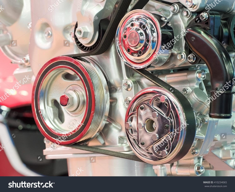 Closeup Modern Automobile Motor Car Engine Stock Photo 410234065 ...