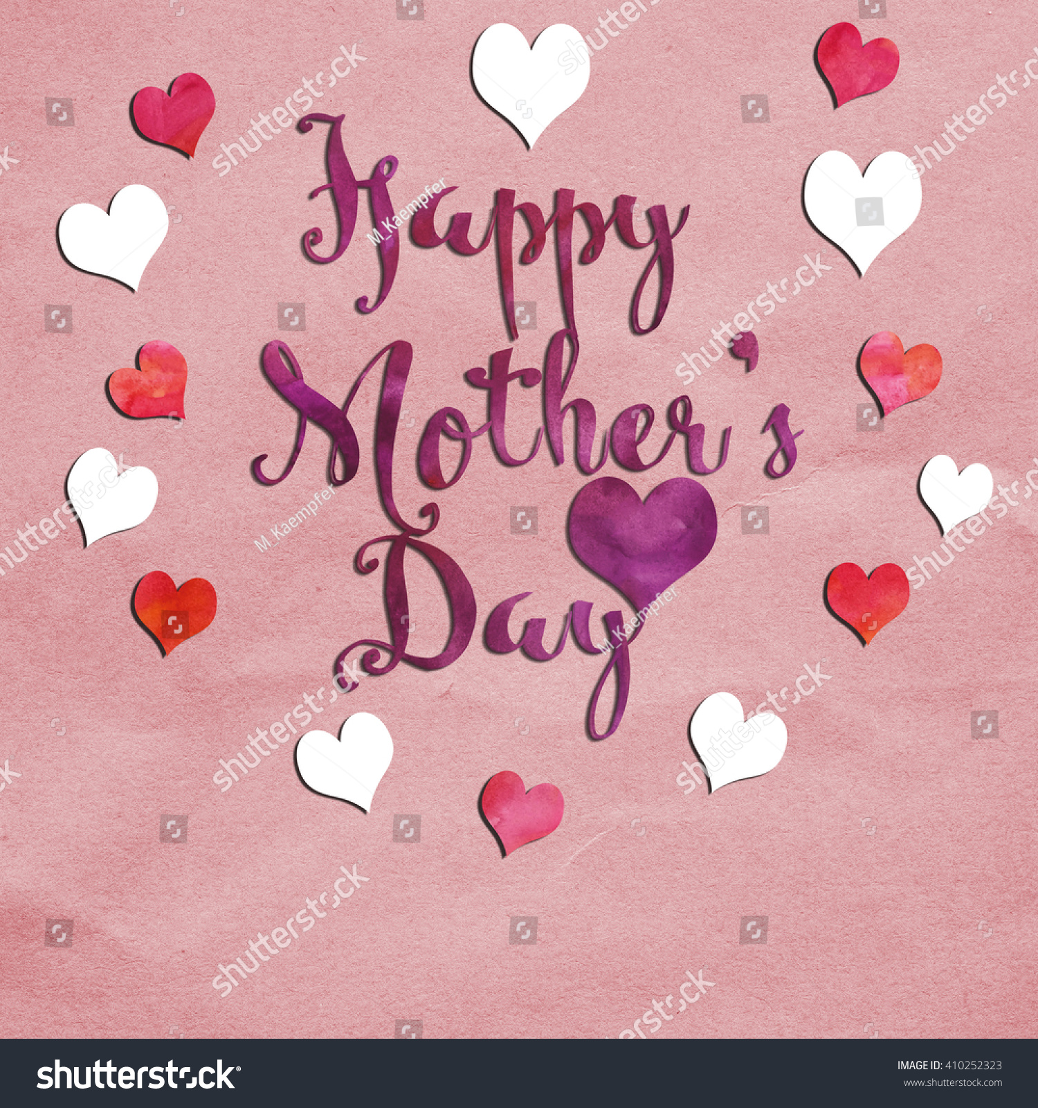 Greeting Card Message Happy Mothers Day Stock Illustration 410252323