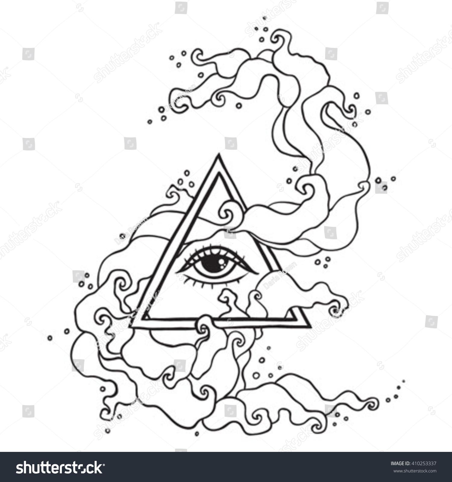 Eye providence sign masonic symbol all stock vector 410253337 masonic symbol all seeing eye in triangle pyramid new buycottarizona Images