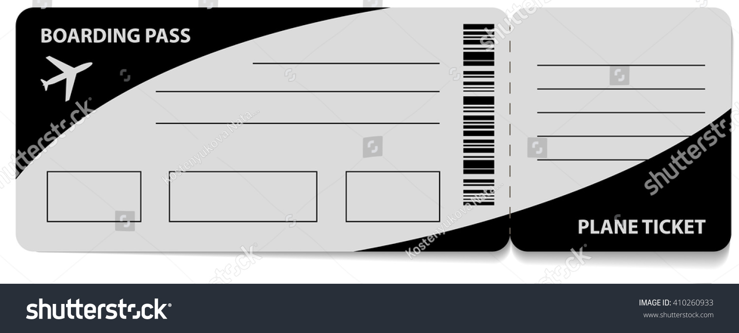 Boarding Pass Icon Isolated On White Stock Illustration 410260933