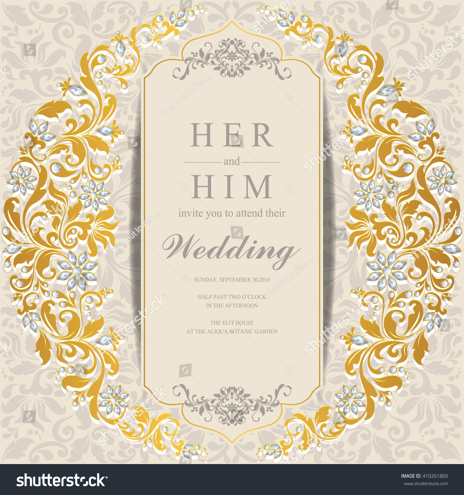 Wedding Invitation Card Abstract Background Islam Stock Photo (Photo ...