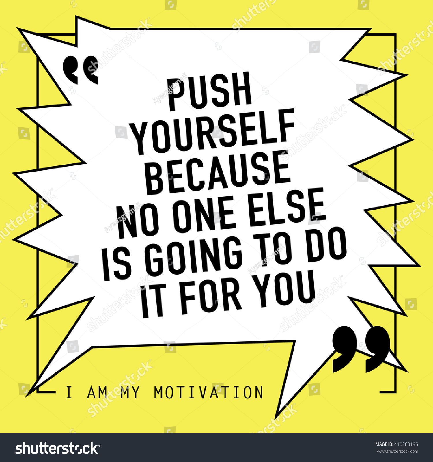 Push Yourself Because No One Else Stock Vector Royalty Free