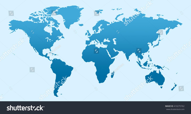 Blue Similar World Map Blank Infographic Stock Illustration - World map blank jpg
