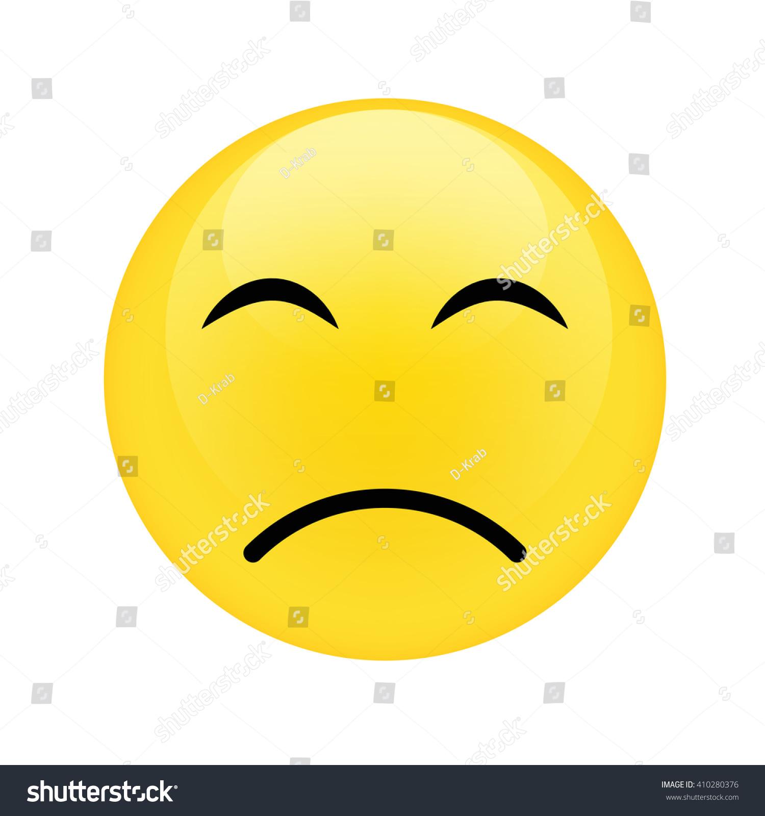 Symbol icon yellow unhappy face vector stock vector 410280376 symbol and icon of yellow unhappy face vector illustration buycottarizona Gallery