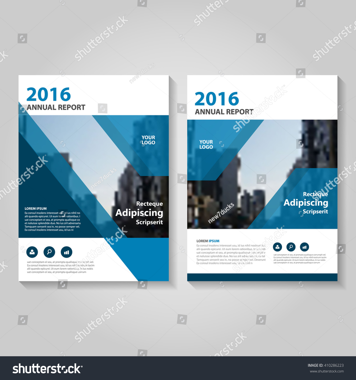 Brochure Booklet Flyer Or Book Cover Template Vector : Blue vector annual report leaflet brochure stock