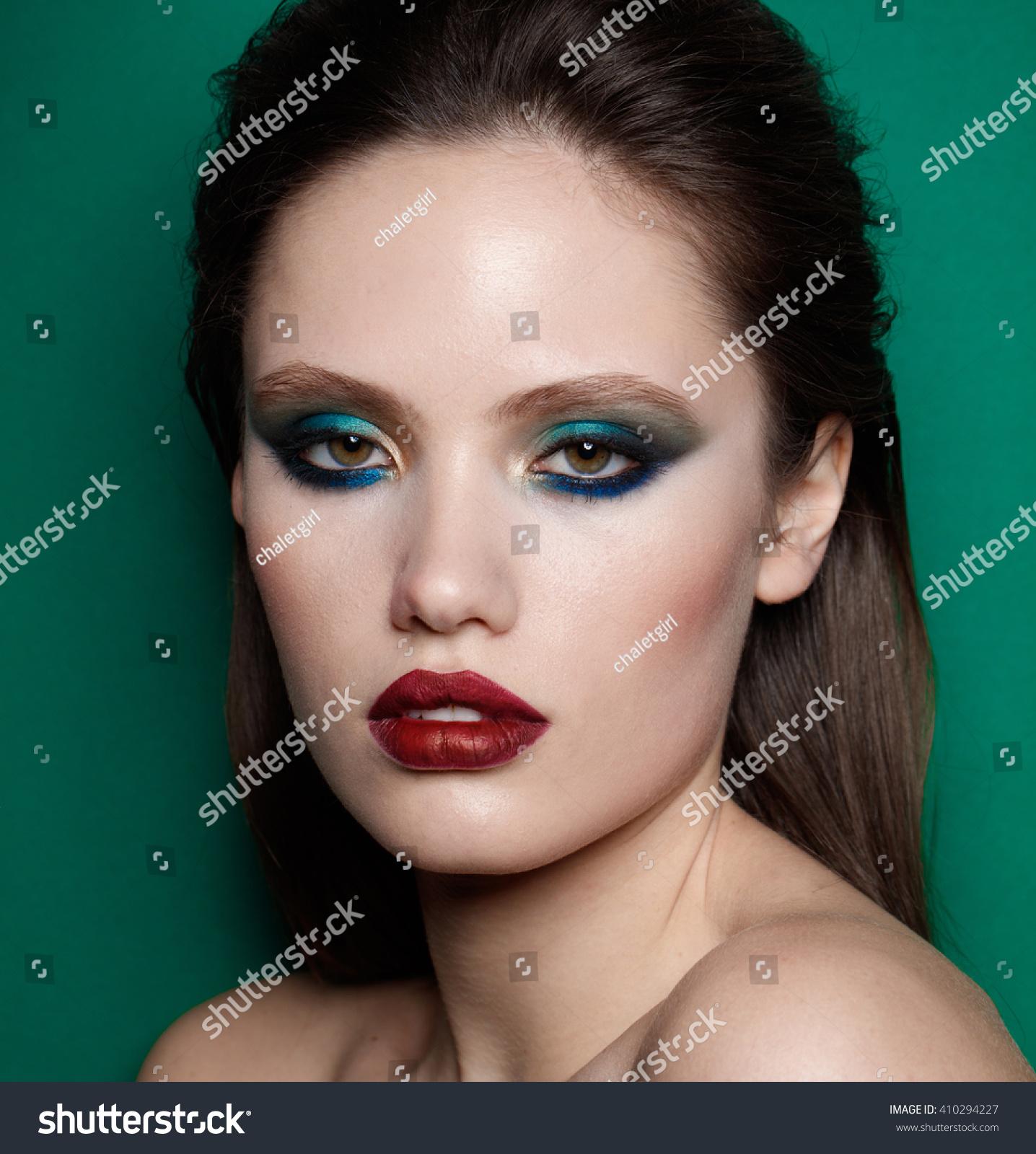Make On Fashion Model Eyelashes Extensions Stock Photo Edit Now