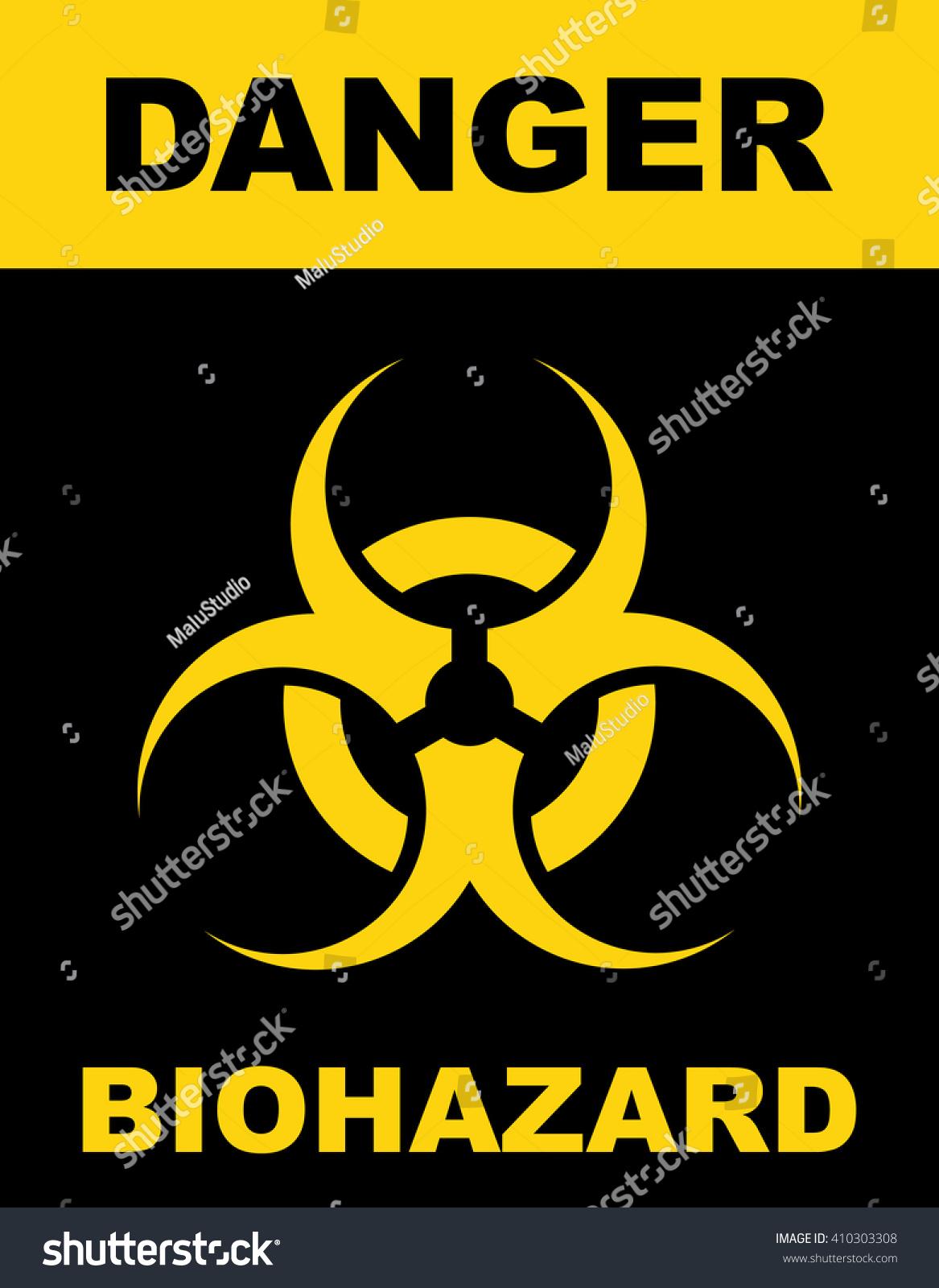 Biohazard Symbol Sign Biological Threat Alert Stock Vector Royalty