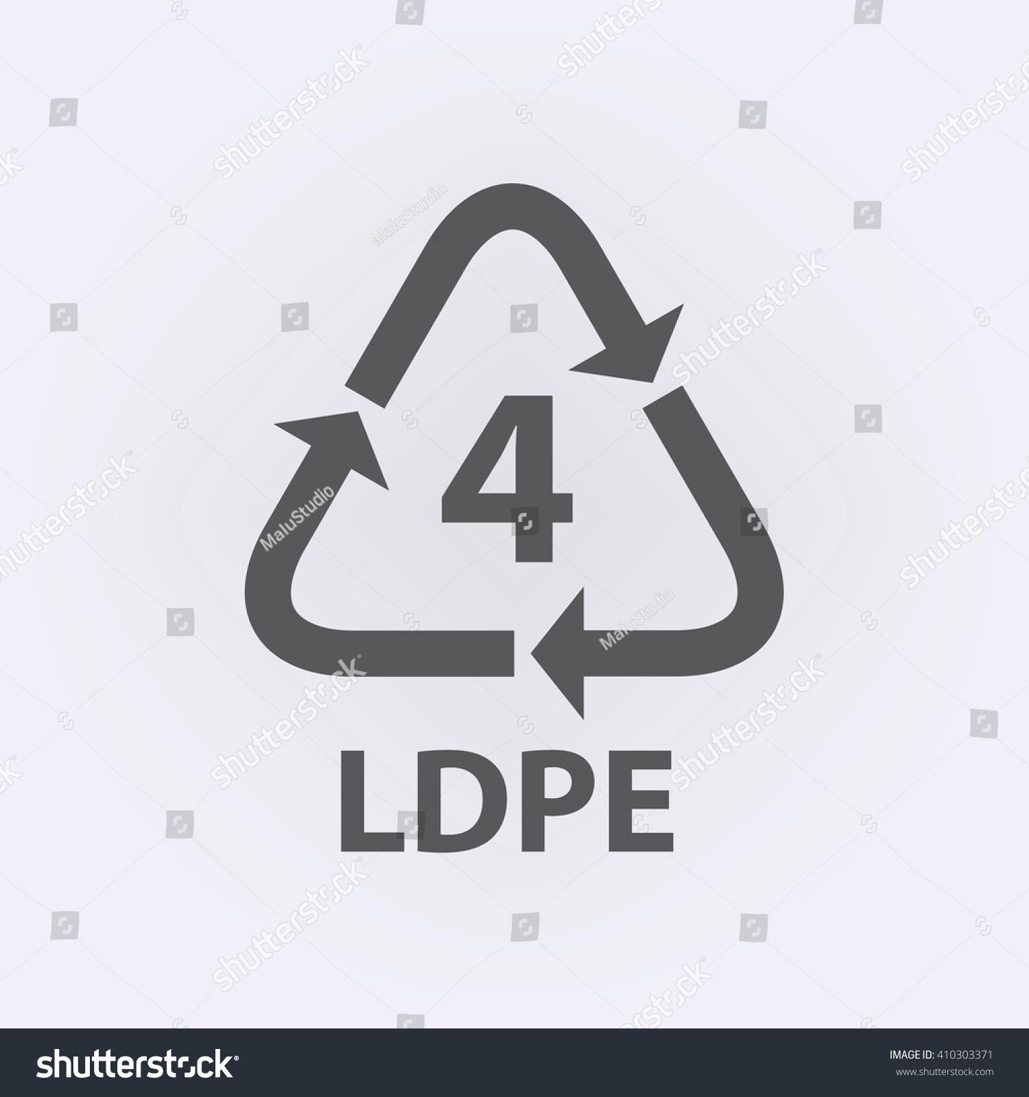 Plastic recycling symbol ldpe 4 vector stock vector 410303371 plastic recycling symbol ldpe 4 vector illustration biocorpaavc Choice Image