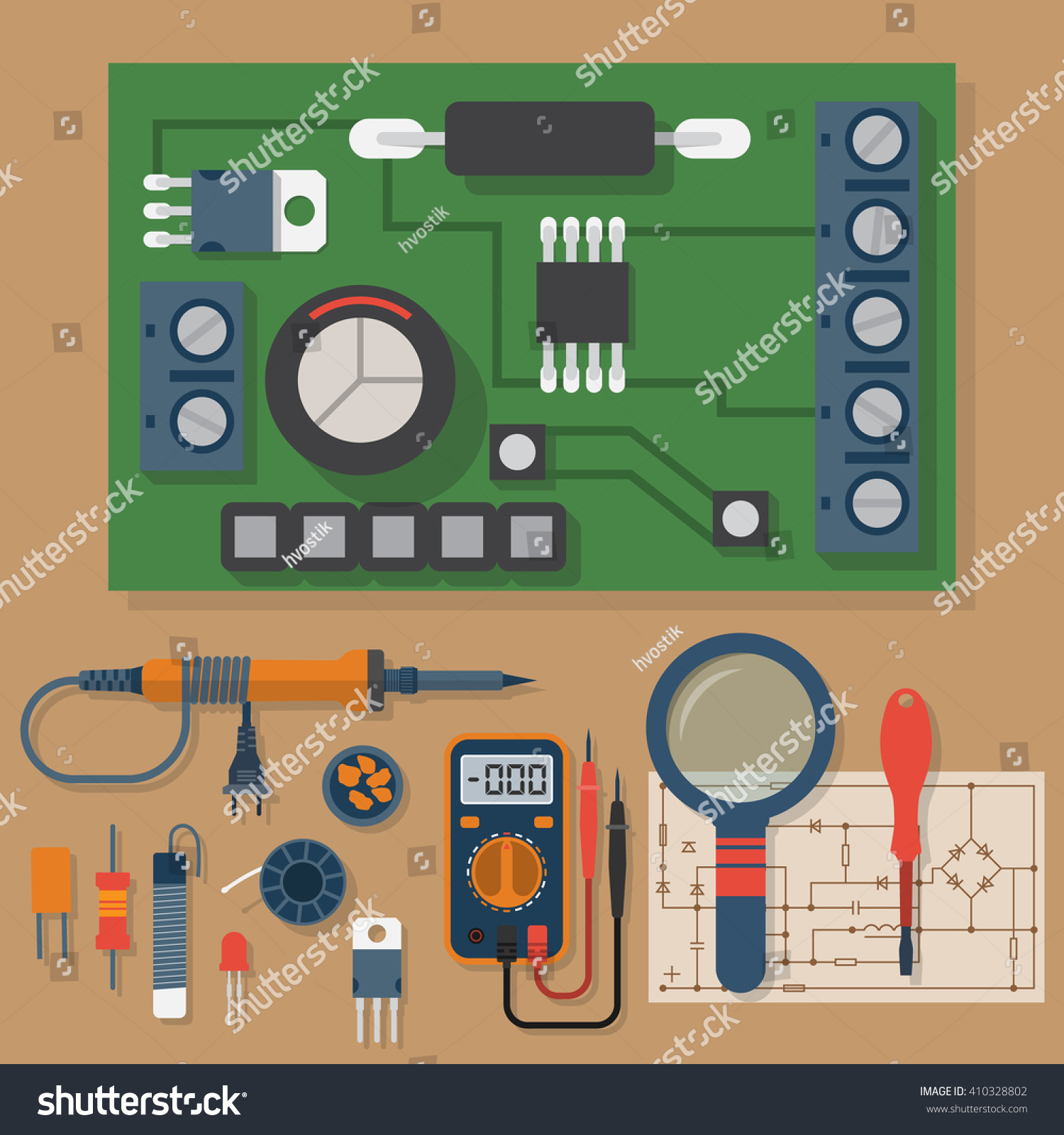 set soldering chips solder repair electronic stock vector 410328802 shutterstock. Black Bedroom Furniture Sets. Home Design Ideas