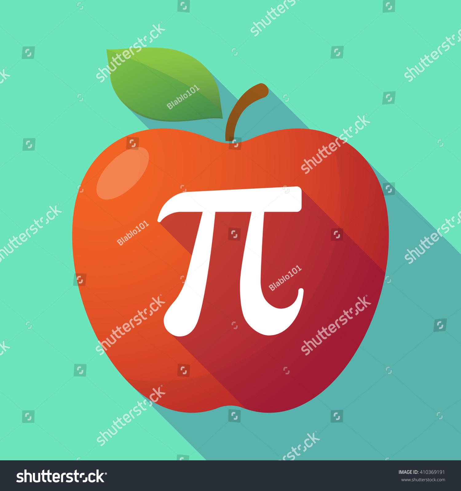 Illustration long shadow red apple number stock vector 410369191 illustration of a long shadow red apple with the number pi symbol buycottarizona