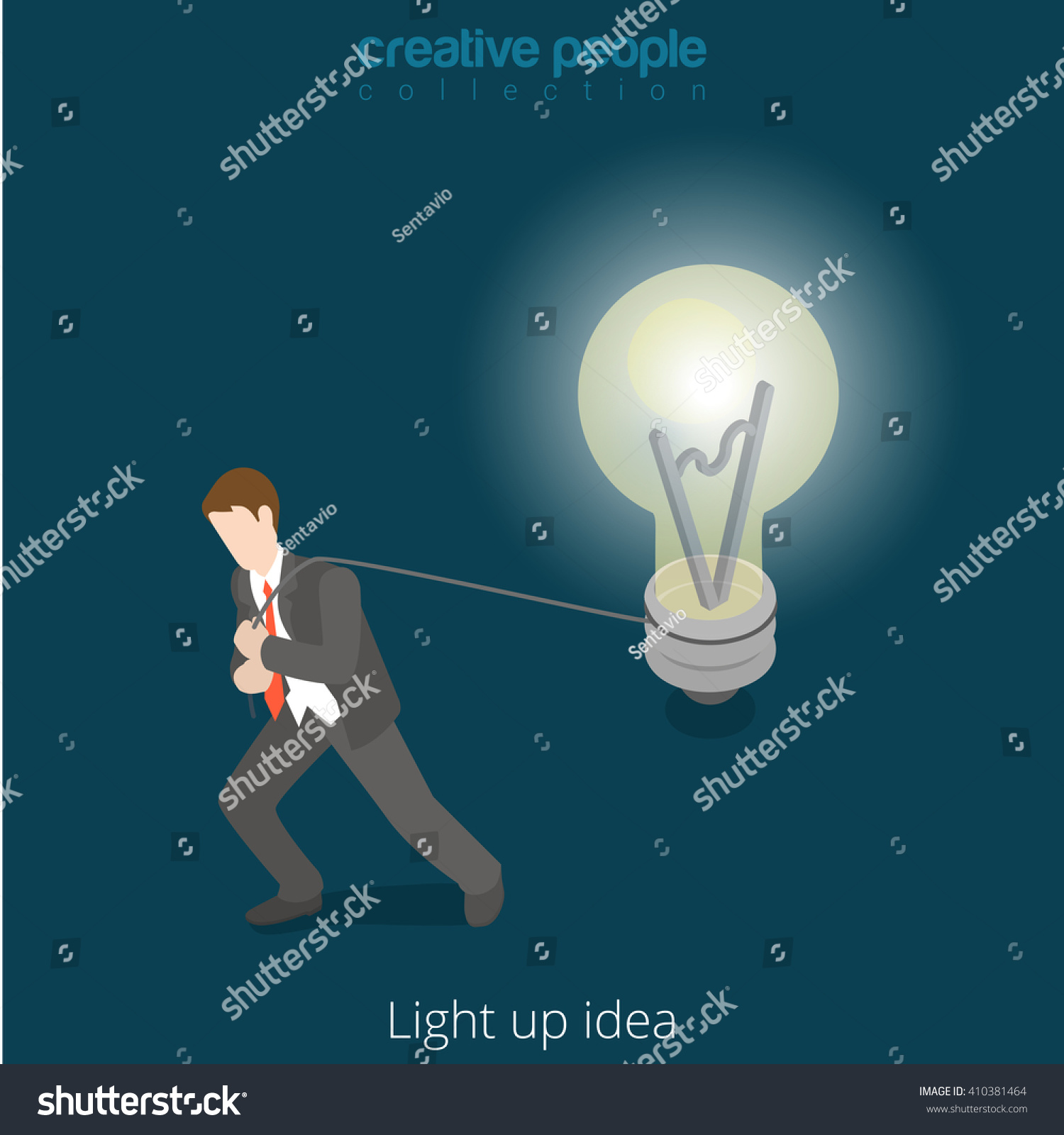 Light Drive Drudge Your Idea Concept Stock Vector Royalty Free Lamp Wiring Supplies Promotiononline Shopping For Promotional Up 3d Isometric Style Illustration Businessman