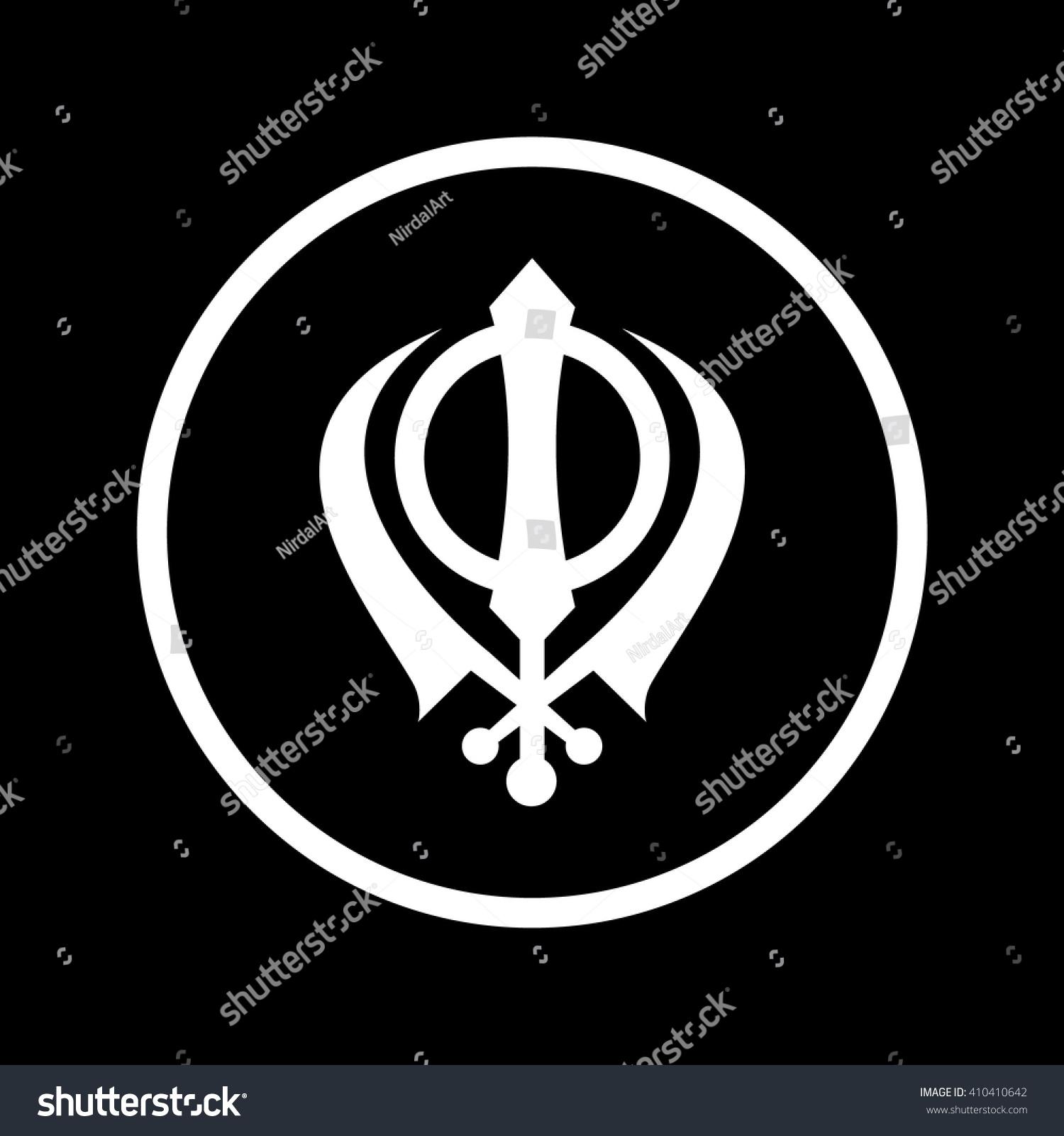 Royalty Free Khanda Symbol Sikhism Religion 410410642 Stock