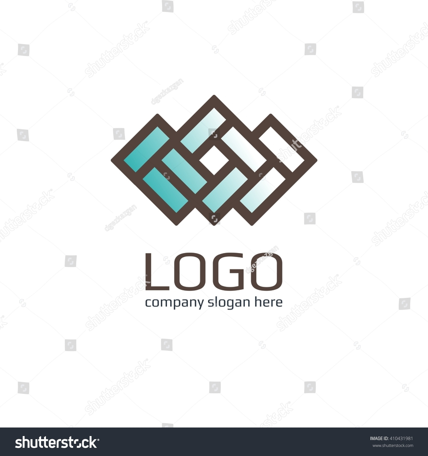 vector icon brick sign business icon stock vector 410431981