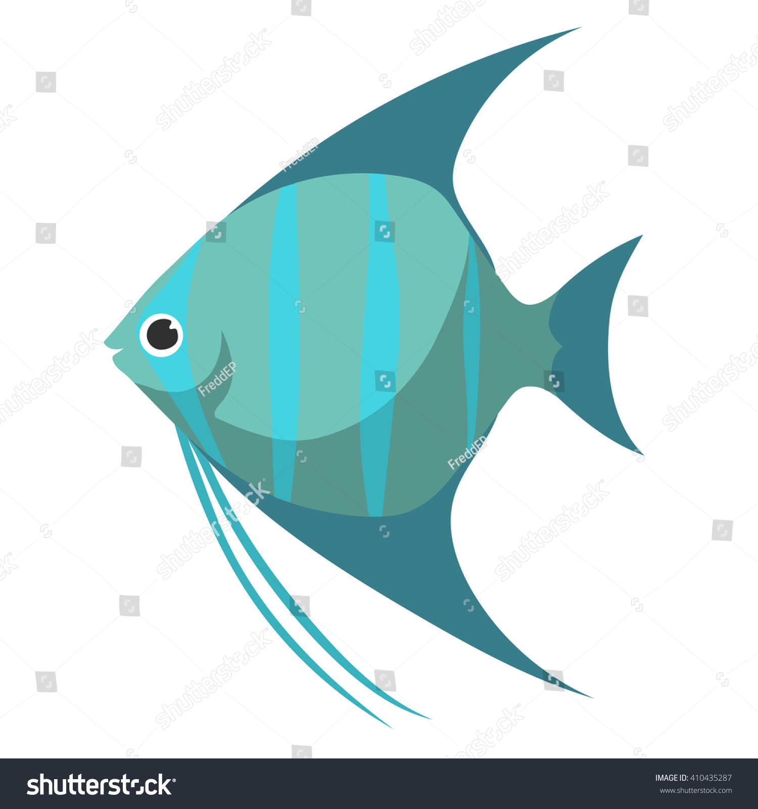 Fish Scalar Flat Vector Aquarium Fish Stock Vector Royalty Free
