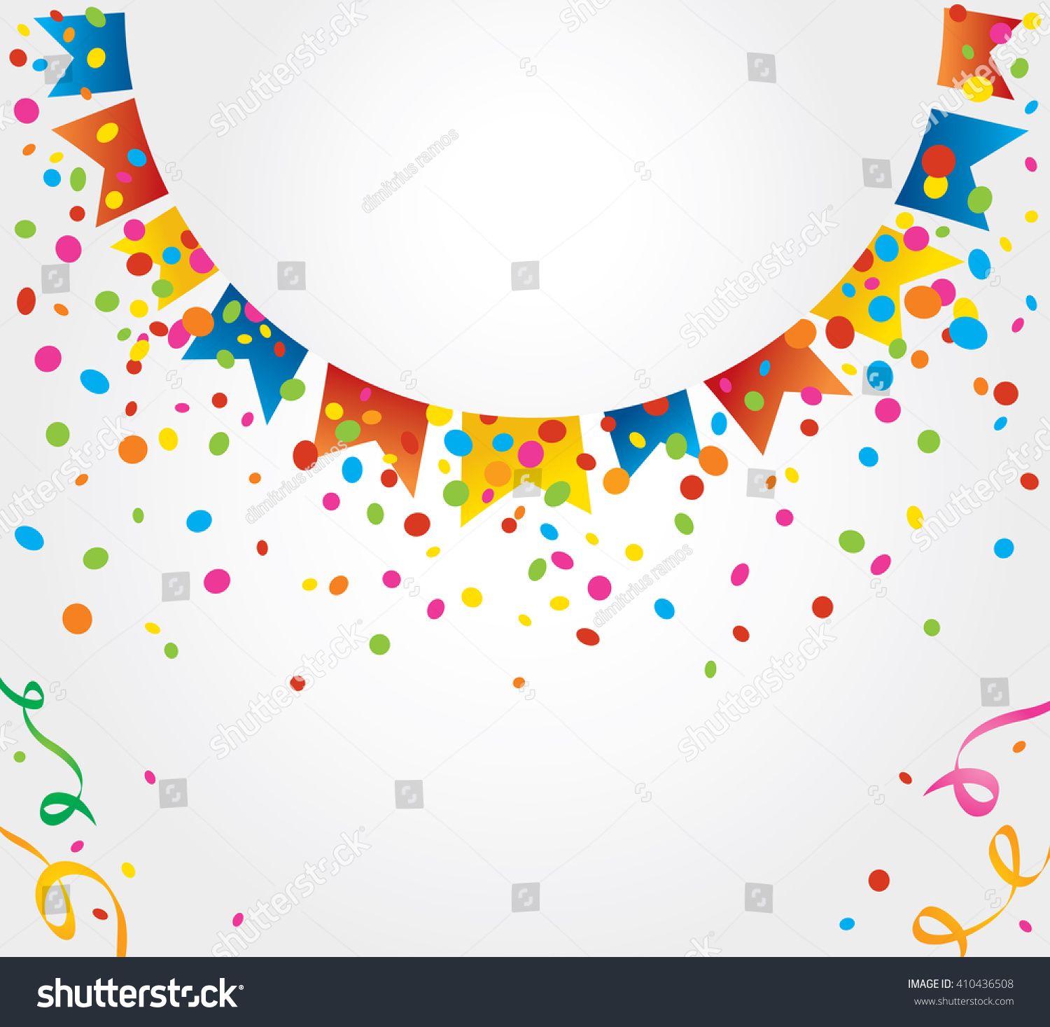 small flags june party forming half stock vector