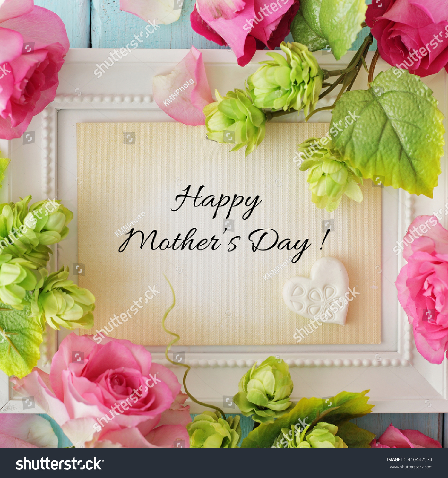 Happy Mothers Day Frame Background Stock Photo (100% Legal ...