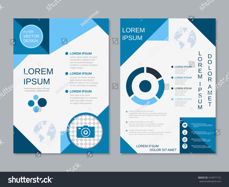Modern Professional Twosided Flyer Vector Design Stock Vector ...