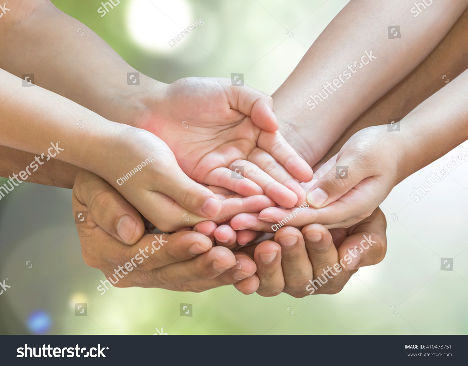 Family Hands Praying Together Clipping Path Stock Photo ...