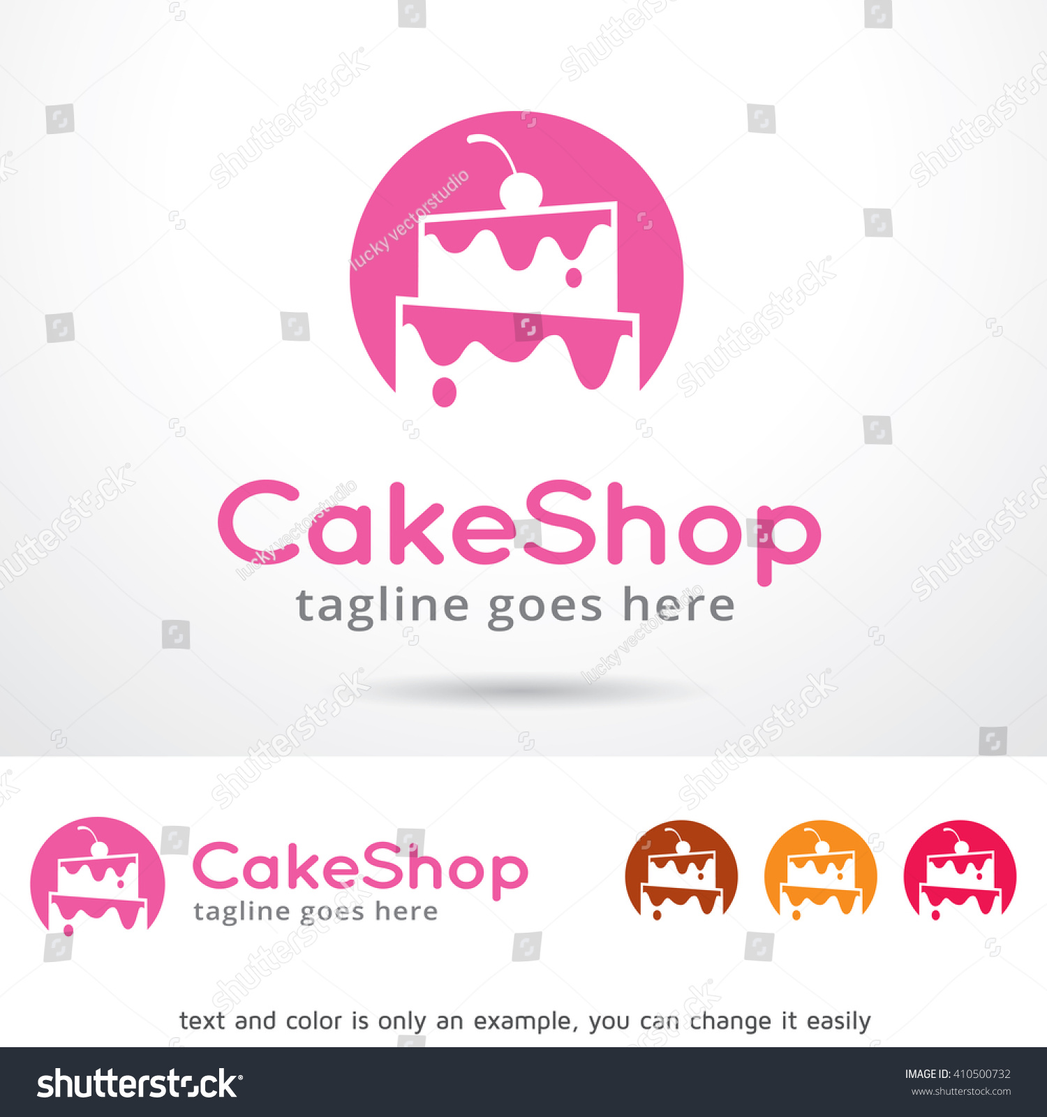 Cake Shop Logo Template Design Vector Stock Vector (Royalty Free ...