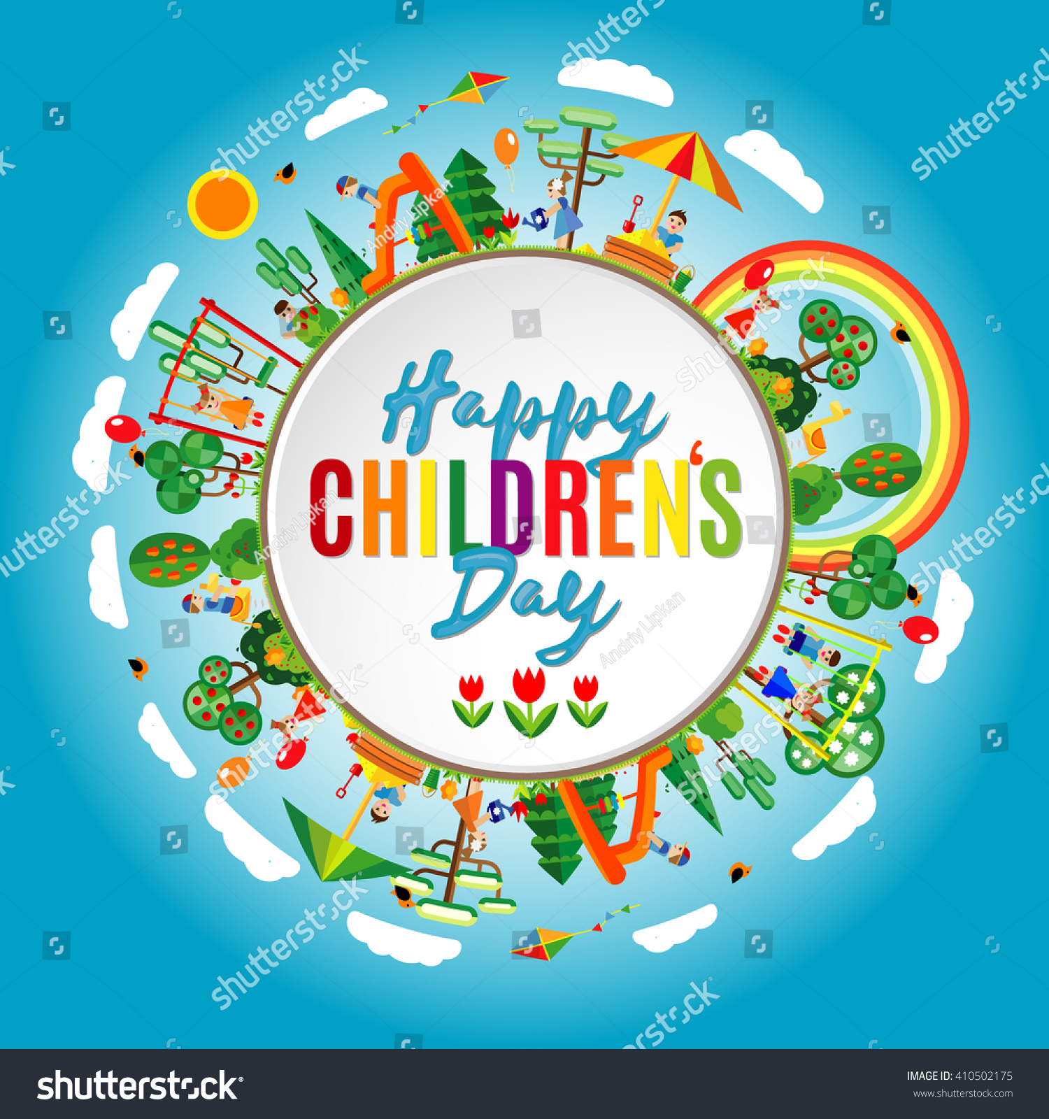 happy childrens day background vector illustration stock