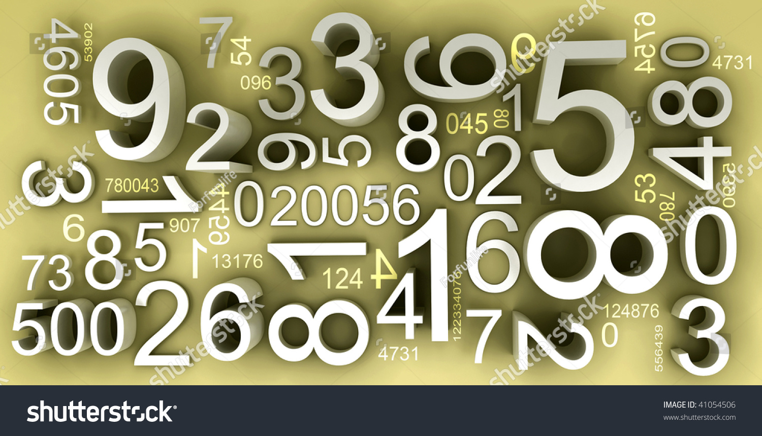 numbers one background mix many codes stock illustration
