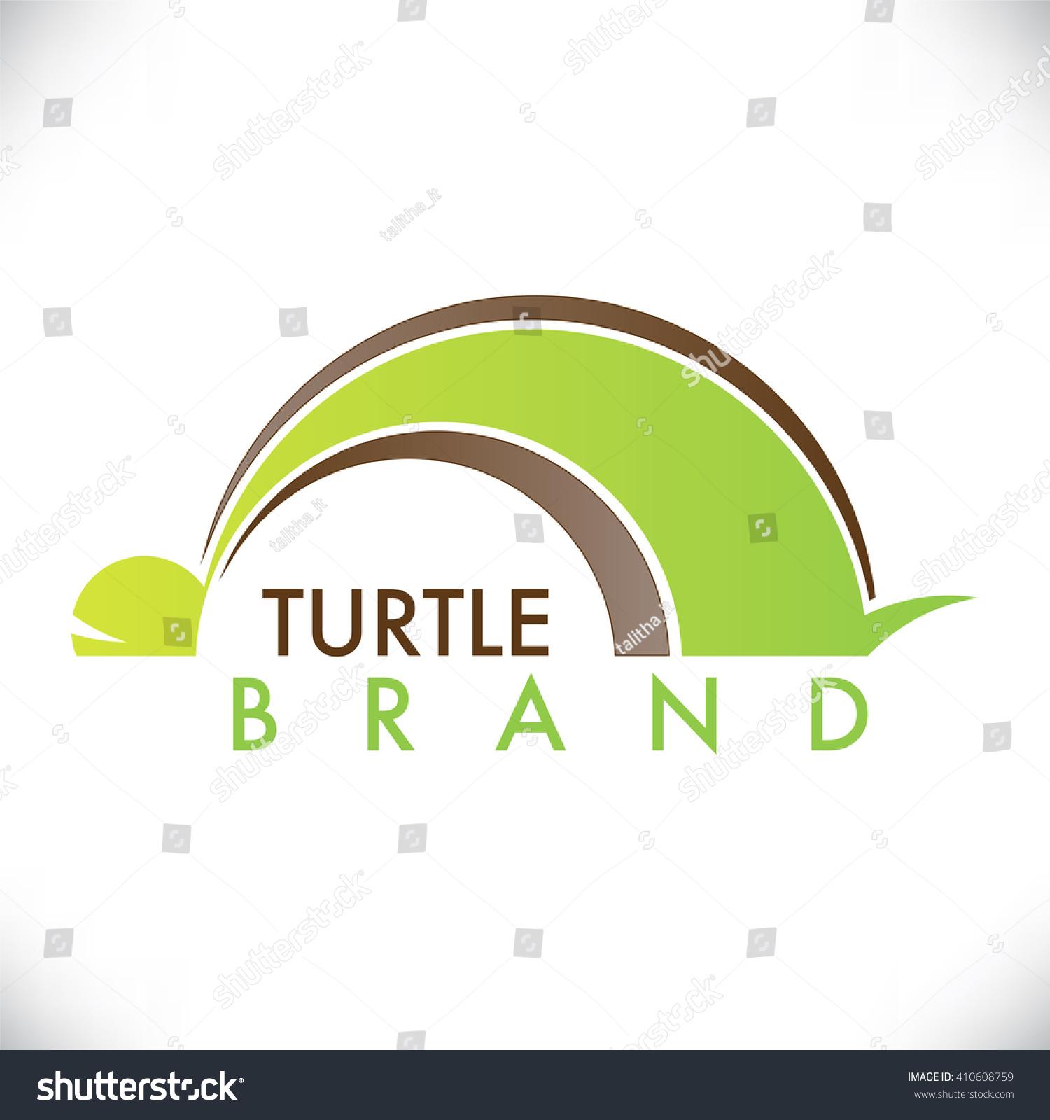 Turtle symbol green brown color stock vector 410608759 shutterstock turtle symbol with green and brown color biocorpaavc