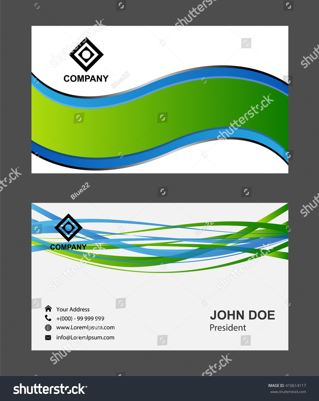 modern simple luxury standard business card stock vector