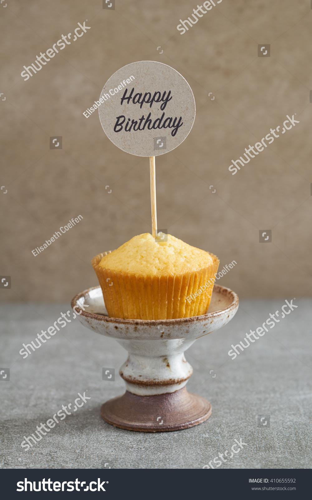 Homemade Vanilla Cupcake Handcrafted Birthday Cake Stock Photo Edit