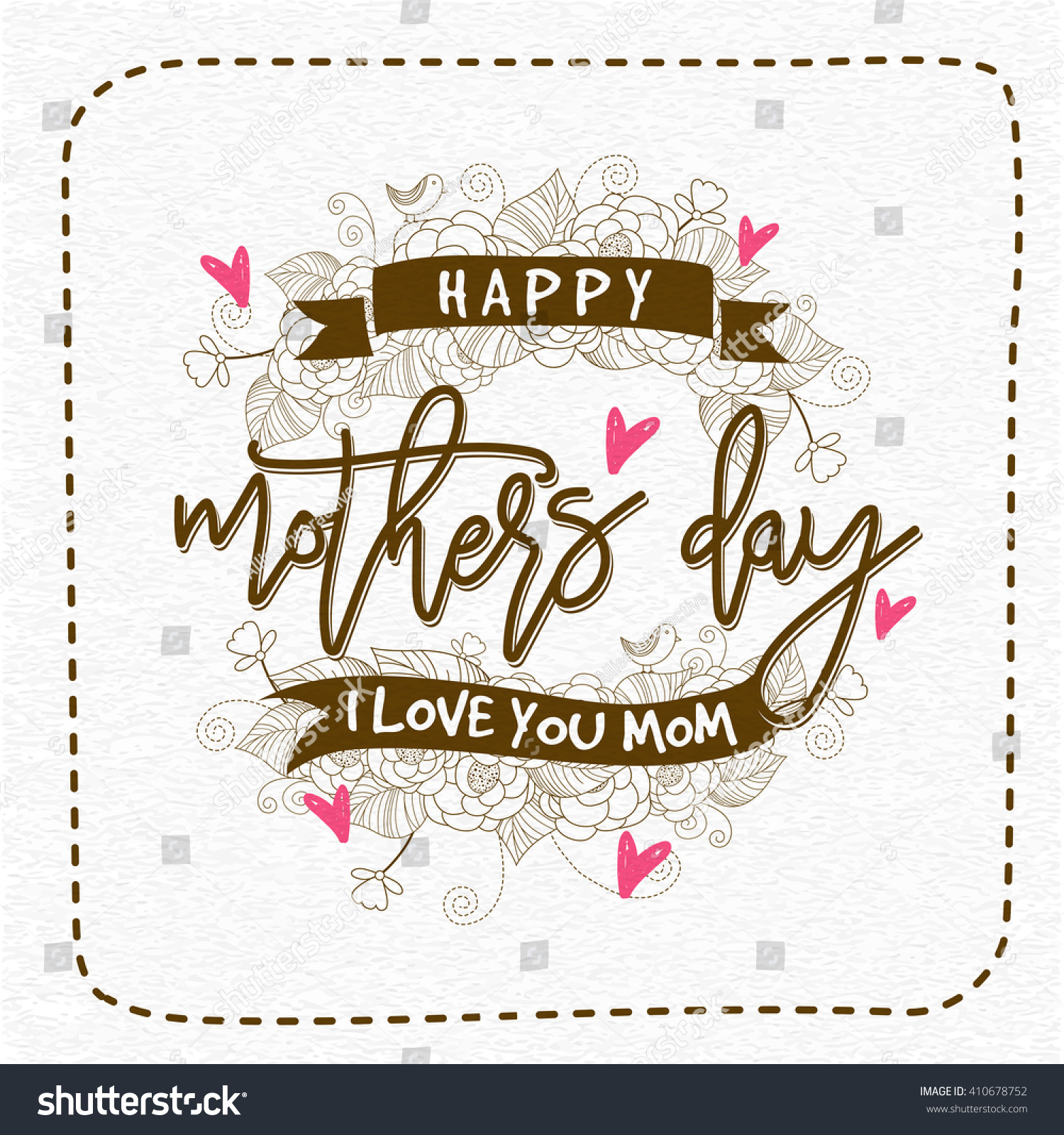 Creative typographical background mothers day elegant for Classy mothers day cards