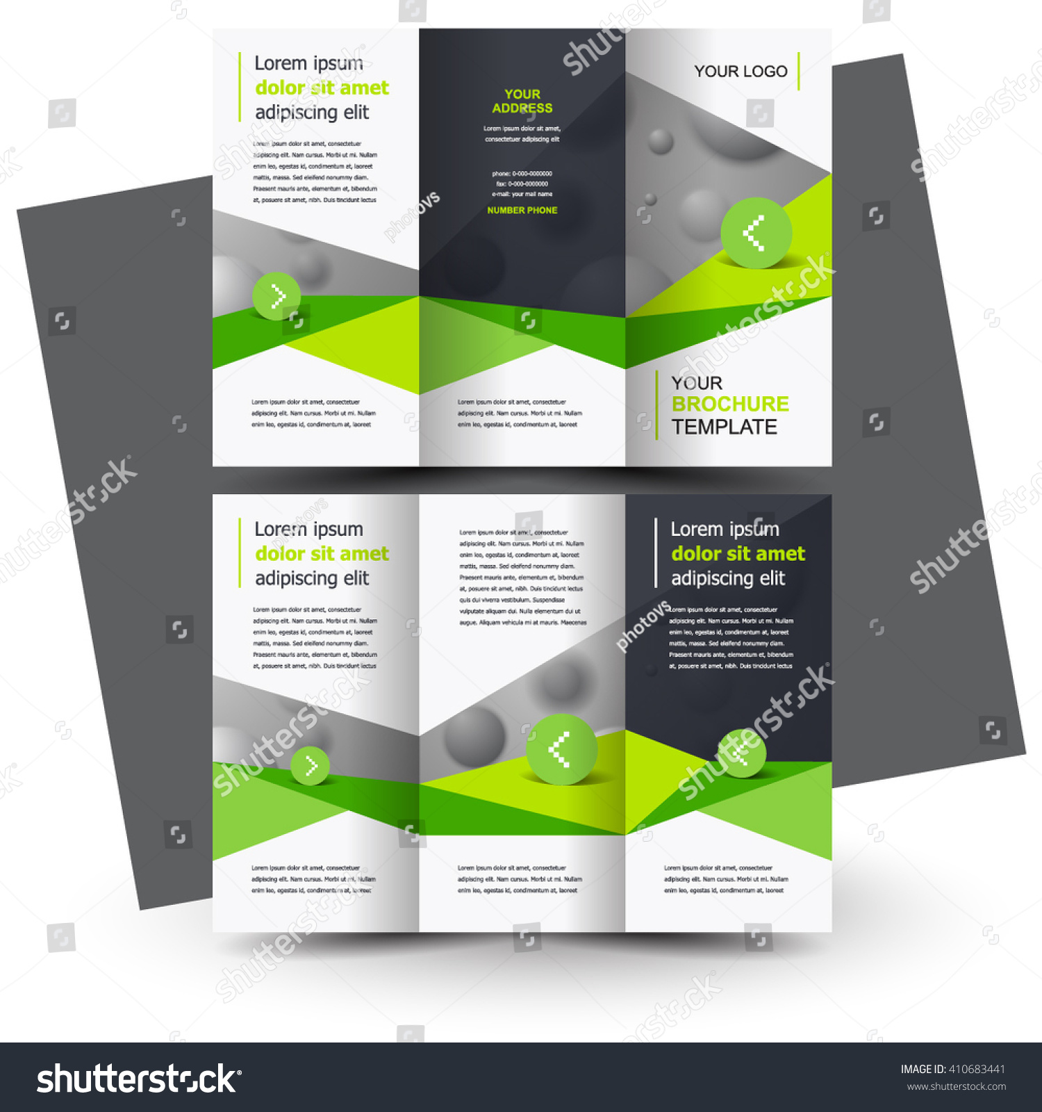 Brochure design business brochure template creative stock for Creative brochure template