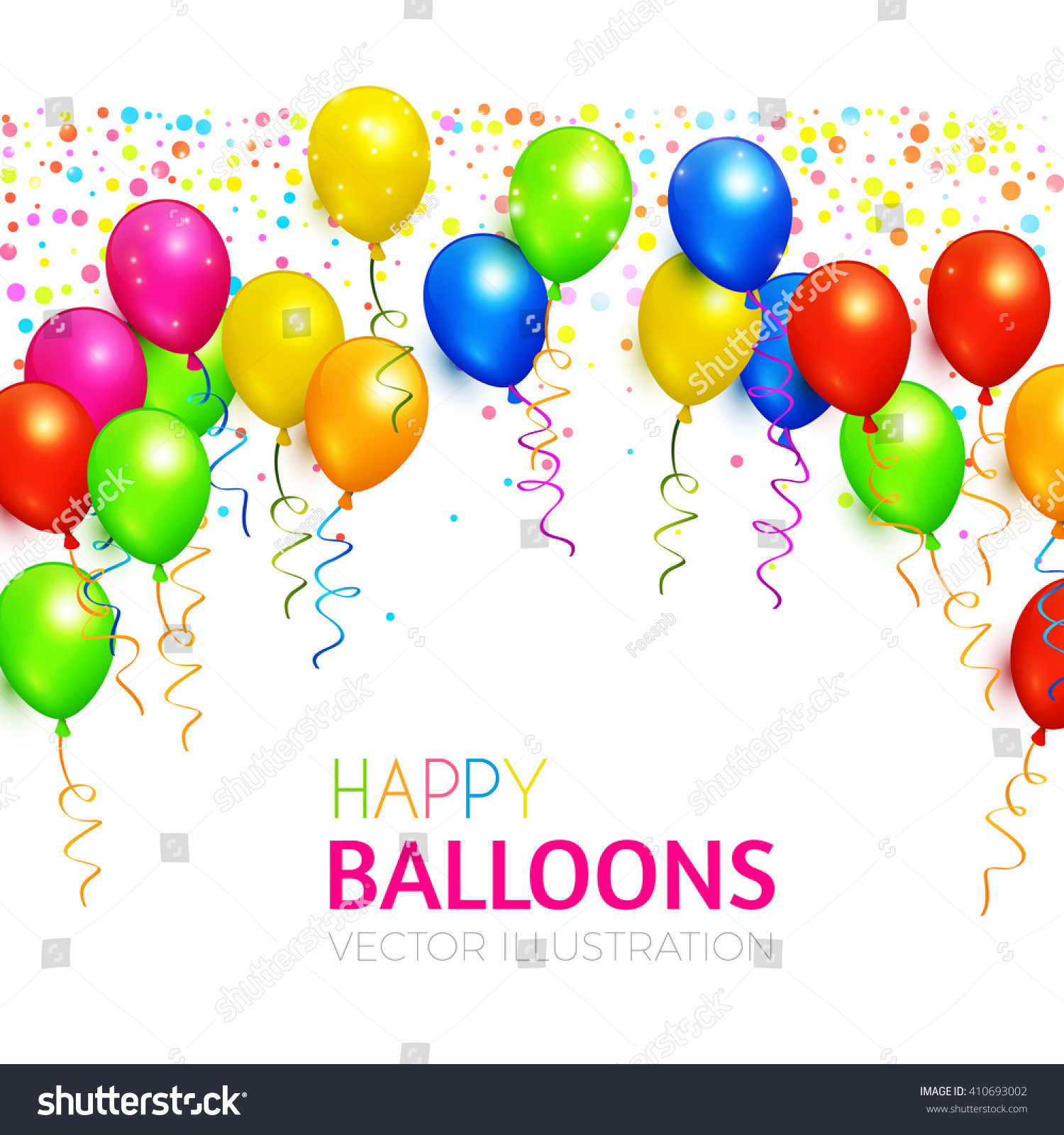 Balloons Background Various Colors Birthday Party Stock Photo Photo