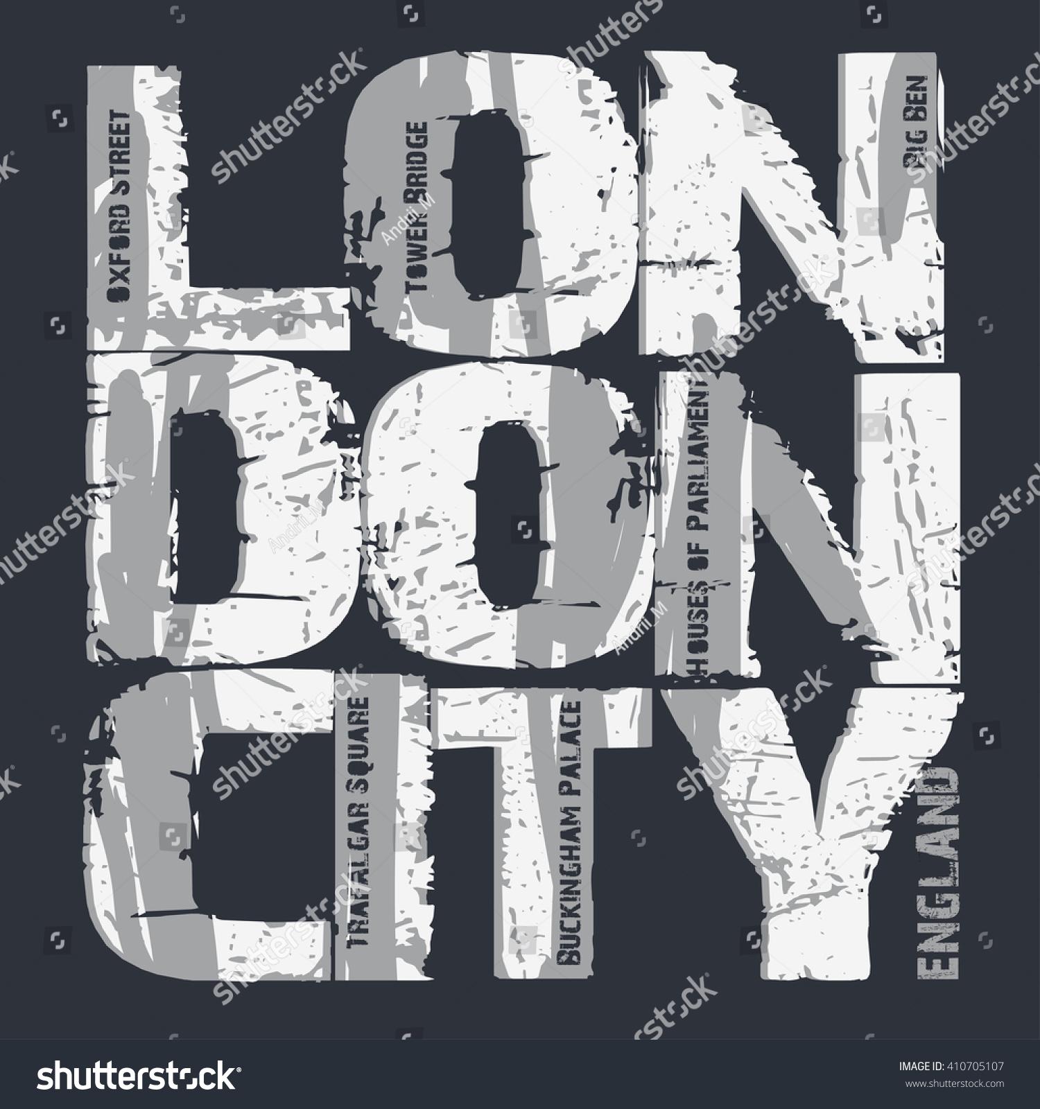 Shirt design london - London T Shirt Grunge Design London City Typography Graphics London Jersey Print