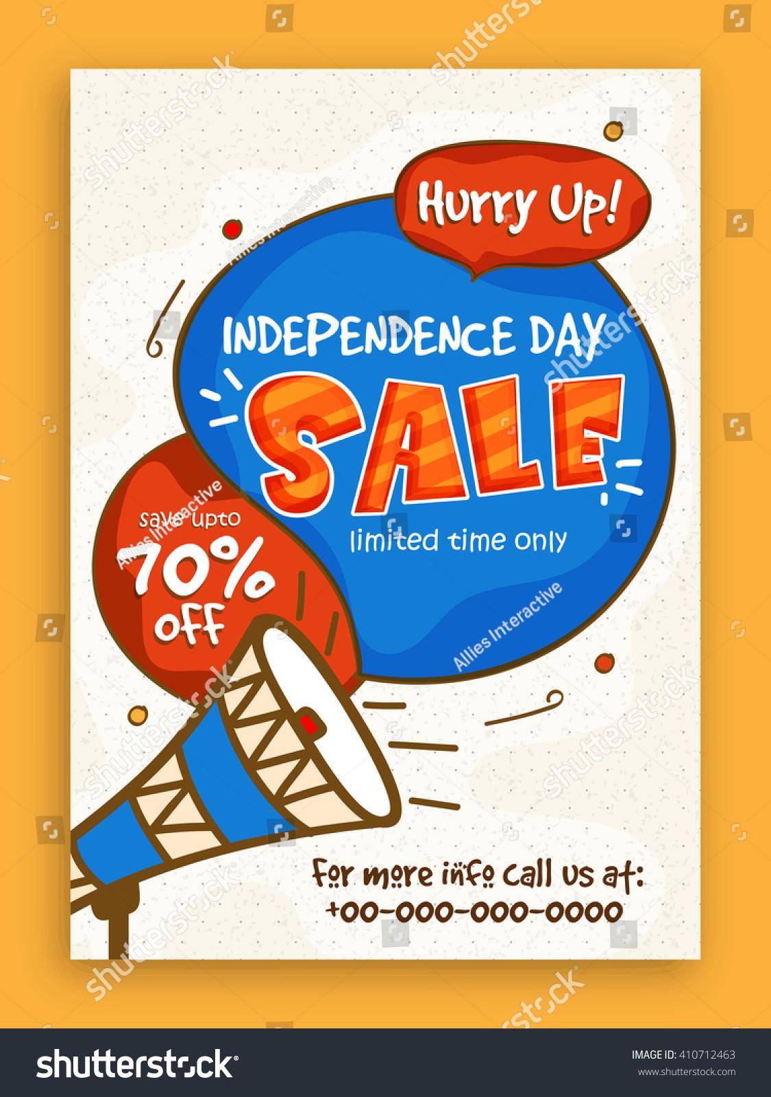 pamphlet banner flyer design 70 stock vector 410712463 pamphlet banner or flyer design 70% discount offer on occasion of american